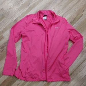 Pink Nike zip up jacket  size large